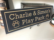 Load image into Gallery viewer, Personalized Pet Park wood carved sign