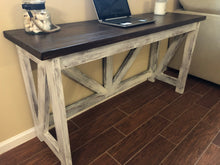 Load image into Gallery viewer, Custom Wood Desk | Rustic Farmhouse Furniture | Wood Bench