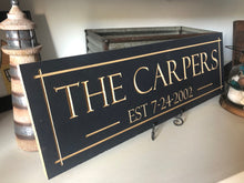 Load image into Gallery viewer, Personalized family wood carved sign