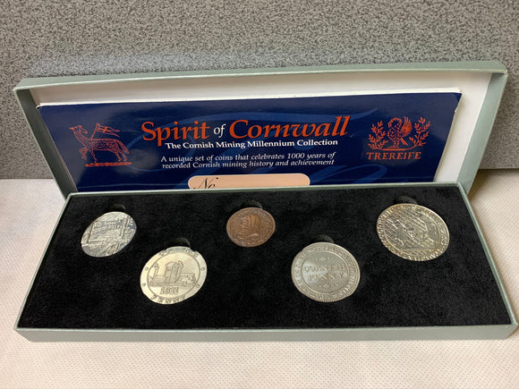 Cornish Mining Collection 5 coins Set