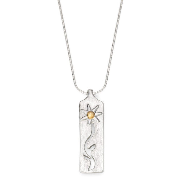 Daisy Pendant with 9ct Gold Bead