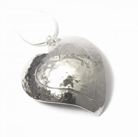 Domed Heart Pendant