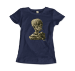 """Van Gogh Chides Conservative Academic Practice; Has Skeleton Smoke Cigarette"" T-Shirt - Dark Matter Magazine"