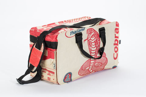 """Villanous Dojo That Is Also Eco-Friendly"" Small Duffel Bag - Dark Matter Magazine"