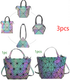 """Fabric of the 2D Universe"" Geometric Backpack - Dark Matter Magazine"