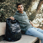 """I Don't See A Backpack"" Camouflage Vegan Leather Backpack - Dark Matter Magazine"