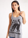 """Black Coffee, Black Cats, Black Everything"" Tank Top - Dark Matter Magazine"