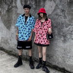 """The World Is Grey, So I Wear Color"" Streetwear Hawaiian Shirt - Dark Matter Magazine"
