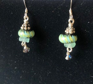 Handmade Glass Sterling Earrings