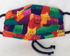 Colorful Cats Child Size Mask