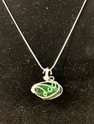 Wire Wrapped Glass Necklace