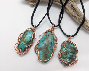 African Turquoise One of a Kind Pendant
