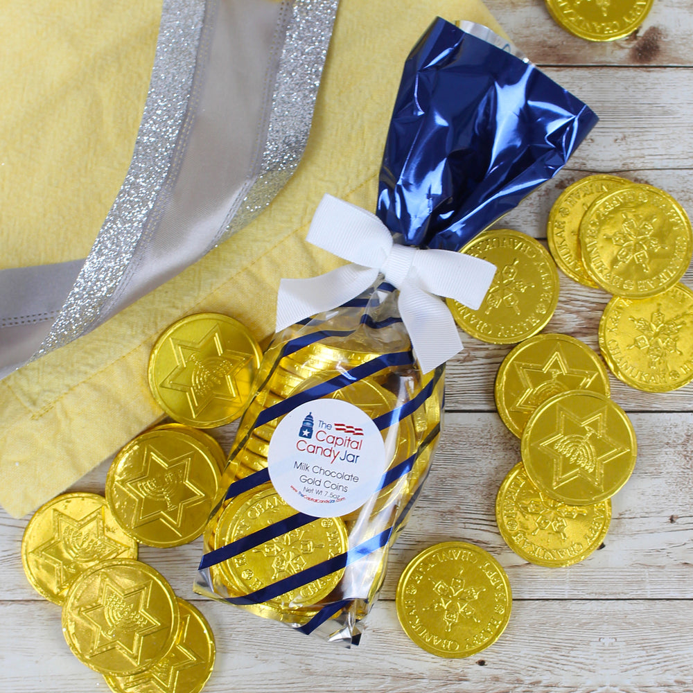 Foil Wrapped Milk Chocolate Gold Coins (7.5oz Bag)