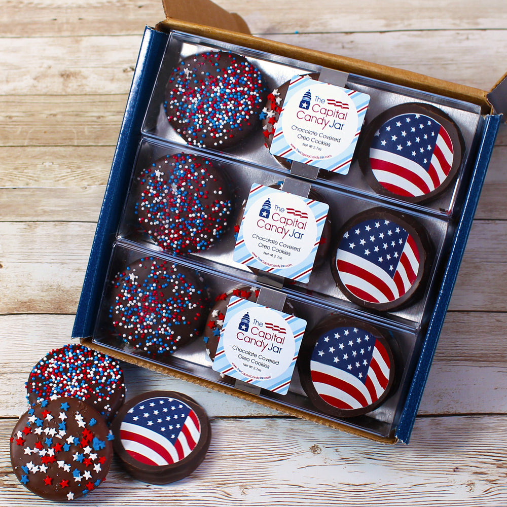 Chocolate Covered Oreos-Patriotic (3 Packages)