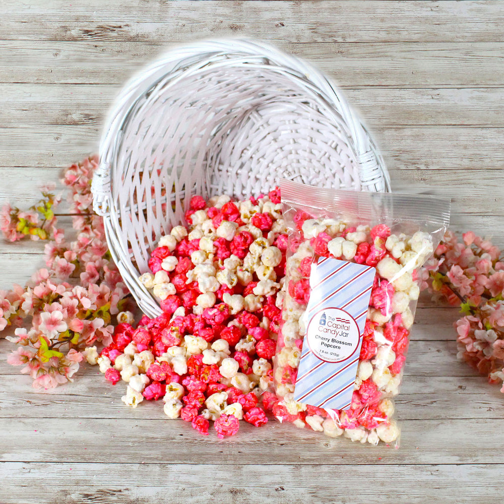 Popcorn-Cherry Blossom Candied