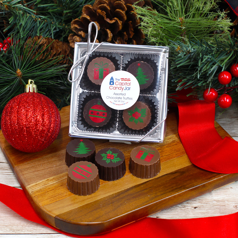 Truffle Gift Box-Christmas (2oz)