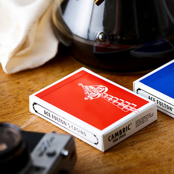 Ace Fulton's Casino Playing Cards Classic Ed. - Red - AVAILABLE on artofplay.com