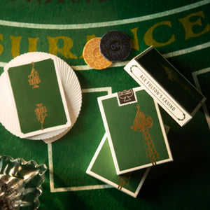 Ace Fulton's Casino Playing Cards - Emerald Green - SIGNED