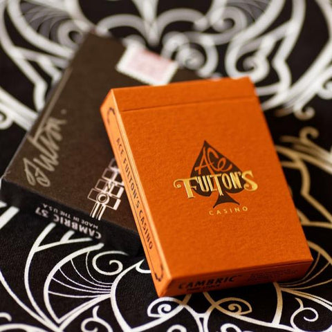 Ace Fulton's Casino Playing Cards - Little Tokyo Orange -AVAILABLE at artofplay.com