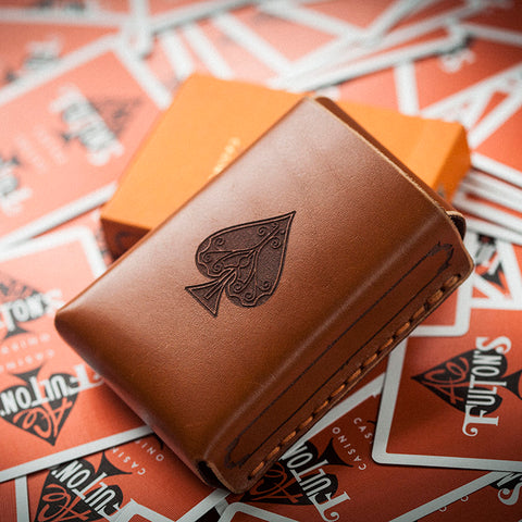 Fulton's Gunslinger Bespoke Leather Playing Card Holster & Wallet