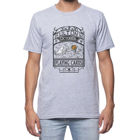 Fulton's October Playing Cards Shirt - Grey