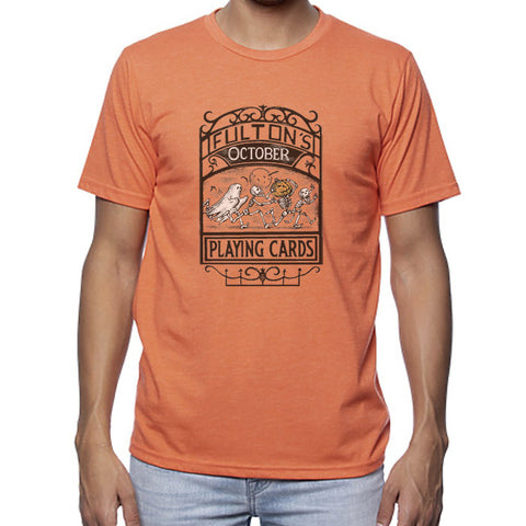 Fulton's October Playing Cards Shirt - Orange
