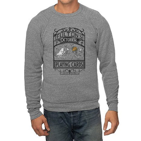 Fulton's October Playing Cards Sweatshirt - Grey