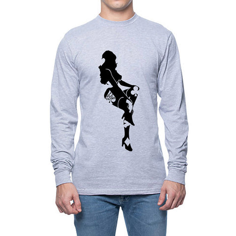 ACE FULTON'S LIMITED EDITION LADY LUCK LONG SLEEVE GREY SHIRT