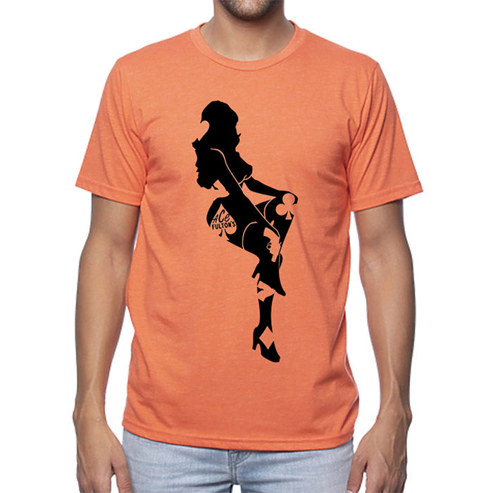 ACE FULTON'S LIMITED EDITION LADY LUCK T SHIRT SUNSET ORANGE