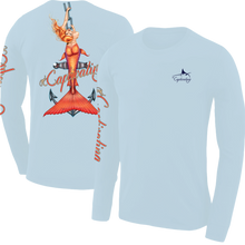 Load image into Gallery viewer, Anchors Away - Light Blue, Mermaid Design, Mens Crew Neck Long Sleeve