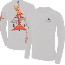 Load image into Gallery viewer, Anchors Away - Light Grey, Mermaid Design, Mens Crew Neck Long Sleeve