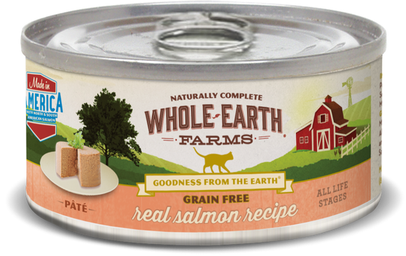 Whole Earth Farms Grain Free Real Salmon Recipe Canned Cat Food