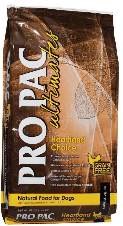 PRO PAC Grain Free Ultimates Heartland Choice Dry Dog Food