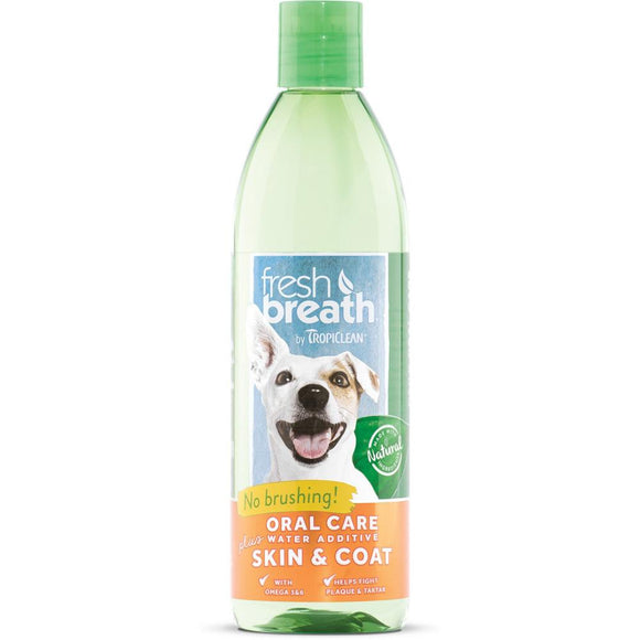 Tropiclean Fresh Breath Water Additive Plus Skin & Coat  for Dogs and Cats