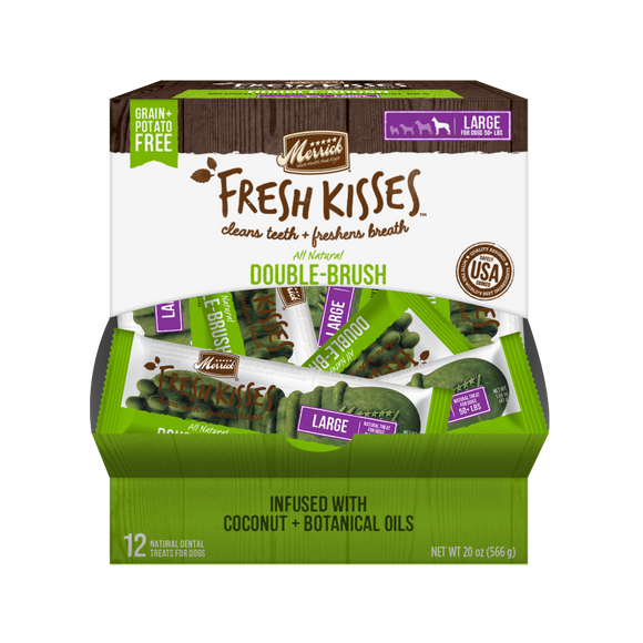 Merrick Fresh Kisses Grain Free Coconut Oil and Botanicals Large Dog Treat Box