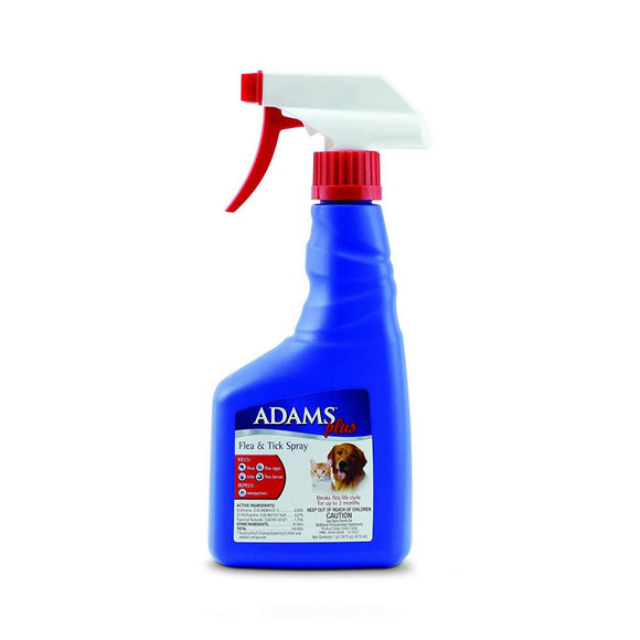 Adams Plus Spot On Flea & Tick Spray for Cats & Dogs