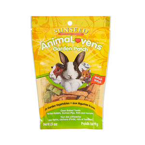 SUNSEED ANIMALOVENS GARDEN PATCH RABBIT/GUINEA PIG/RAT/HAMSTER TREATS