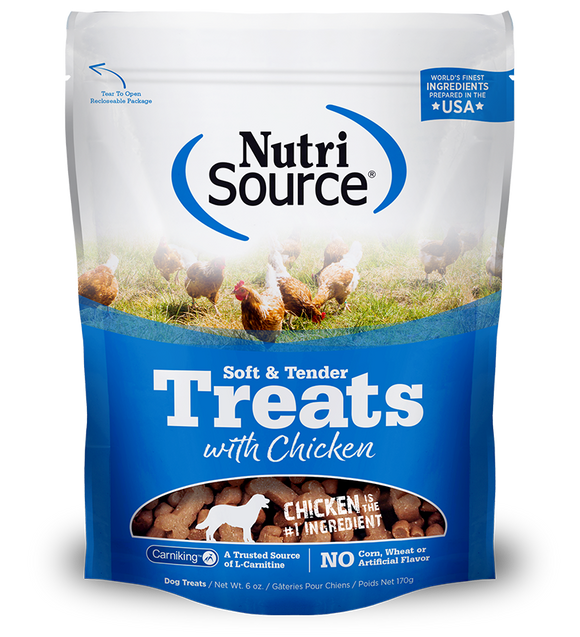 NutriSource Soft & Tender Chicken Treats Dry Dog Treat