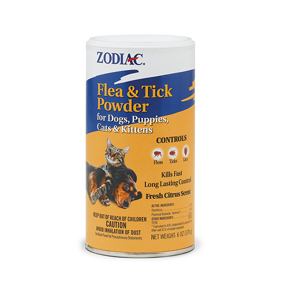 ZODIAC® FLEA & TICK POWDER FOR DOGS, PUPPIES, CATS & KITTENS