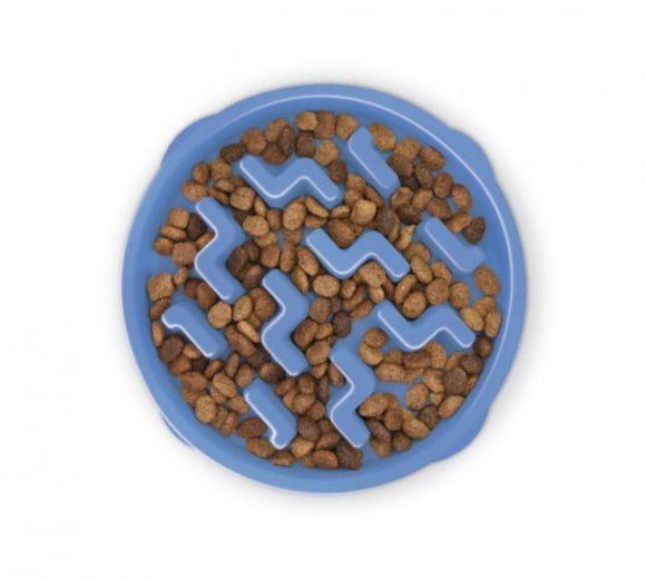 Outward Bound Outward Hound Plastic Fun Feeder Slo-Bowl Swirl