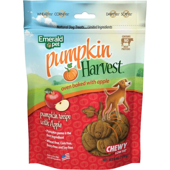 Emerald Pet Pumpkin Harvest Chewy Dog Treats