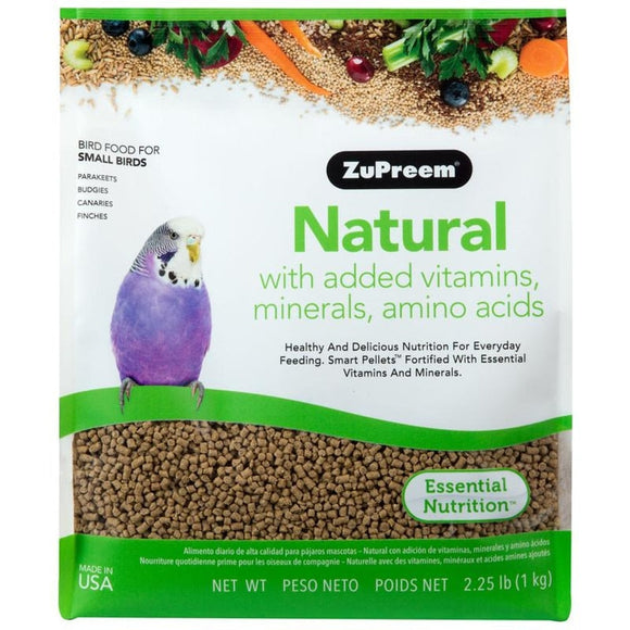 NATURAL WITH ADDED VITAMINS & MINERALS SM PARROT