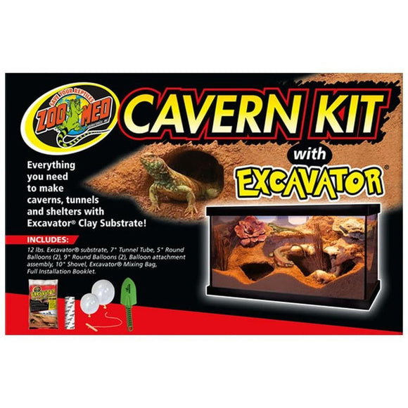 CAVERN KIT W/EXCAVATOR CLAY SUBSTRATE
