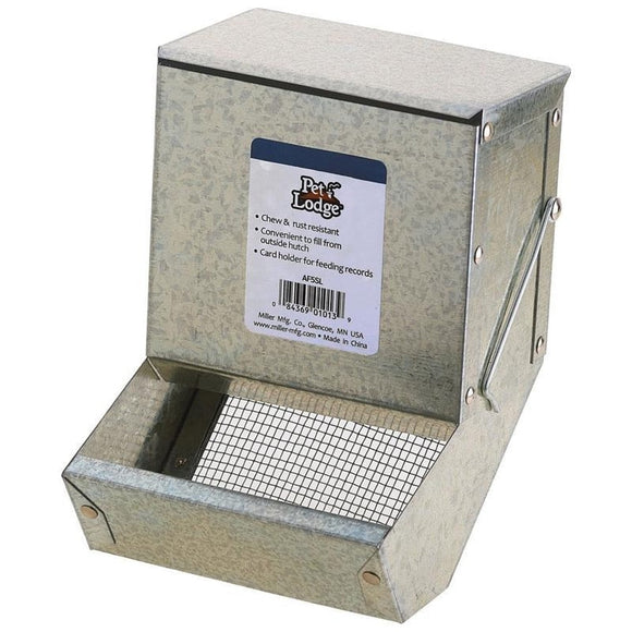 PET LODGE FEEDER WITH SIFTER BOTTOM & LID GALV
