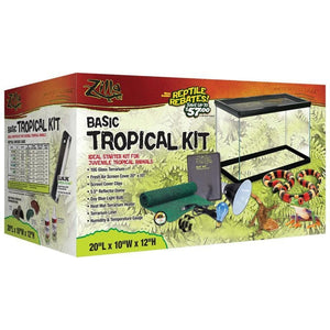 ZILLA BASIC TROPICAL REPTILE STARTER KIT