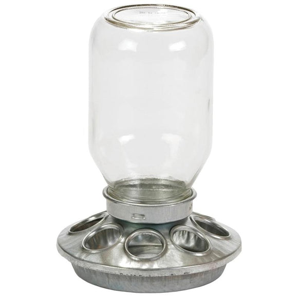 LITTLE GIANT BABY CHICK FEEDER W/MASON JAR