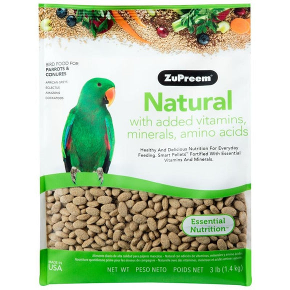 NATURAL BIRD FOOD WITH ADDED VITAMINS AND MINERALS