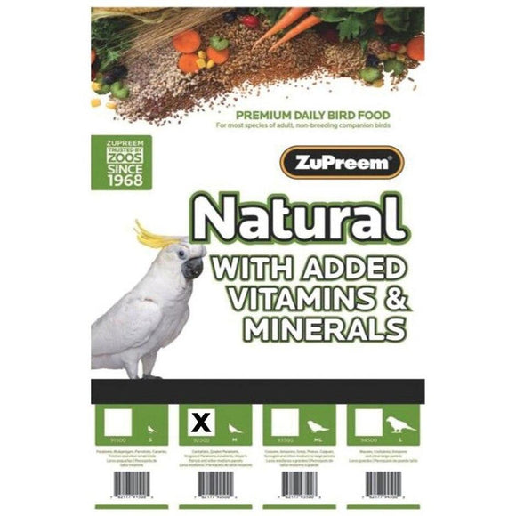 NATURAL WITH ADDED VITAMINS & MINERALS MD PARROT