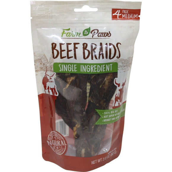 Farm To Paws Beef Braids