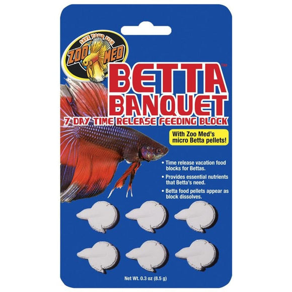 ZOO MED BETTA BANQUET 7 DAY TIME RELEASE FEEDING BLOCK